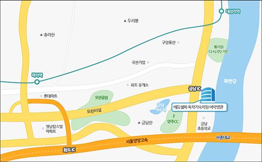 에듀셀파 독학기숙학원 여학생캠퍼스 지도