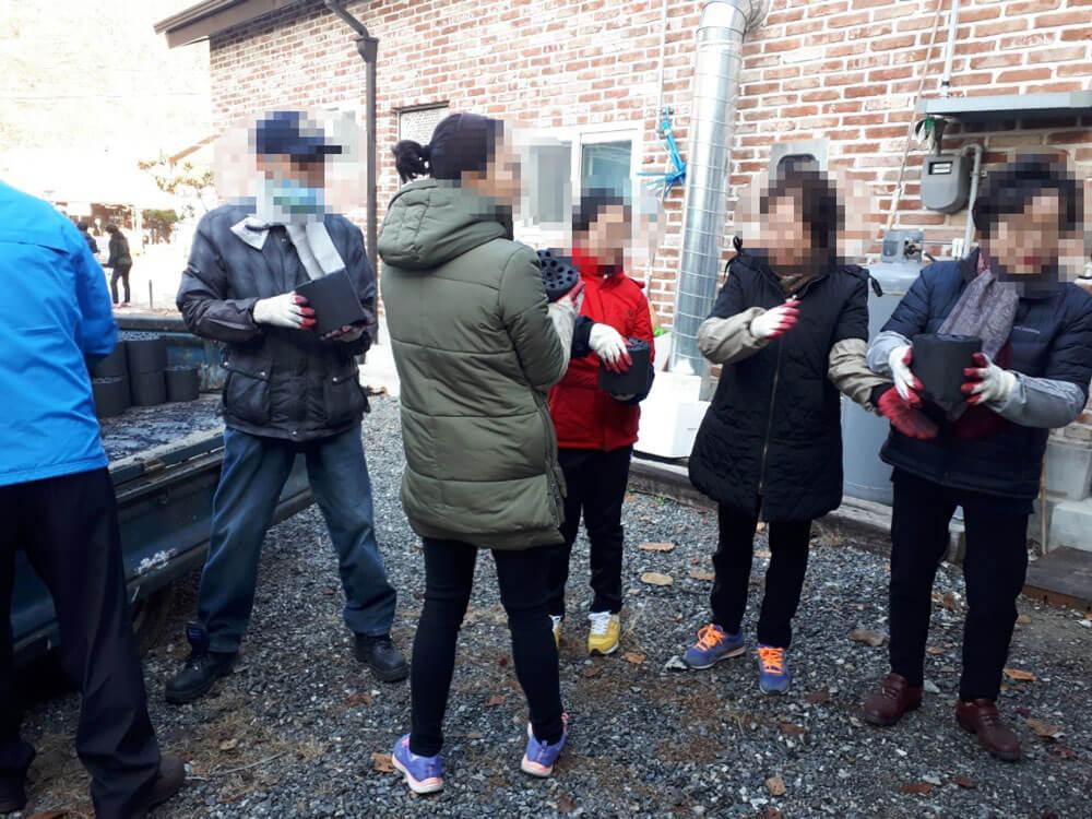 남양주 독거노인 연탄 배달